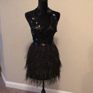 Bebe feather dress